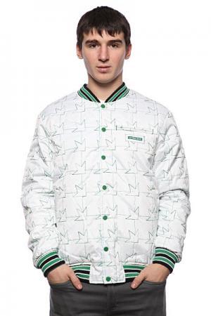 Куртка бомбер  Team Jacket Blue/White Dekline. Цвет: синий