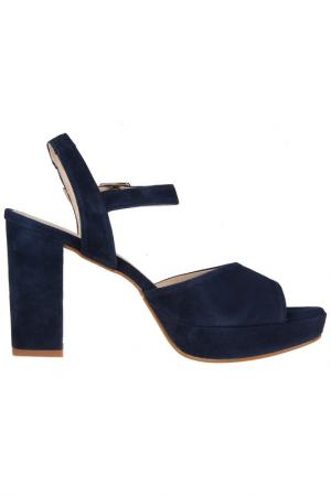 High heels sandals Sessa. Цвет: navy