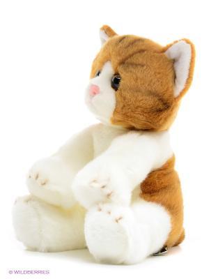 Мягкая игрушка Котик MAXITOYS. Цвет: молочный, коричневый