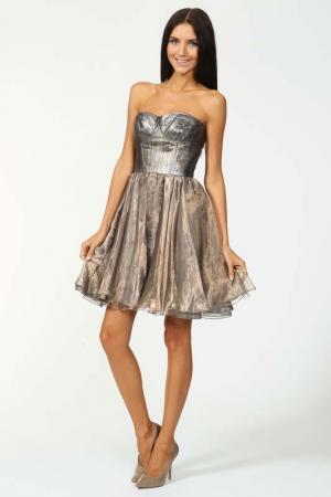 Платье Dennis Basso. Цвет: серебряный