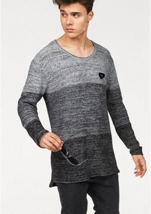 Удлиненный пуловер BRUNO BANANI. Цвет: черный/серый