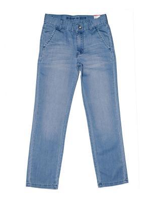 Джинсовые брюки для мальчиков MID BGF. Цвет: голубой