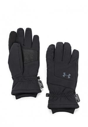 Перчатки горнолыжные Under Armour. Цвет: черный