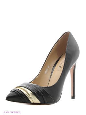 Туфли Vitacci. Цвет: черный, золотистый