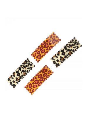 Заколка (4 шт.) Migura. Цвет: оранжевый, черный, бежевый