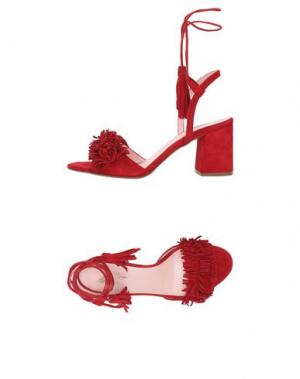 Сандалии ANNA F.. Цвет: красный