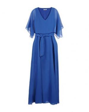 Длинное платье HOPE COLLECTION. Цвет: синий