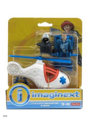 Городские спасатели Mattel. Цвет: белый, синий, прозрачный