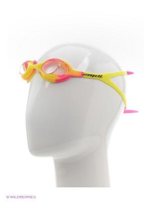 Очки для плавания EMDI. Цвет: желтый