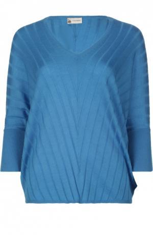 Вязаный свитер Colombo. Цвет: синий