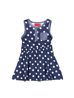 Платье FUNKY DIVA. Цвет: синий