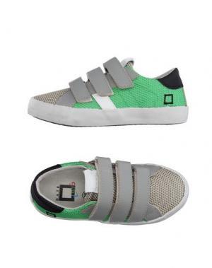 Низкие кеды и кроссовки D.A.T.E. KIDS. Цвет: зеленый