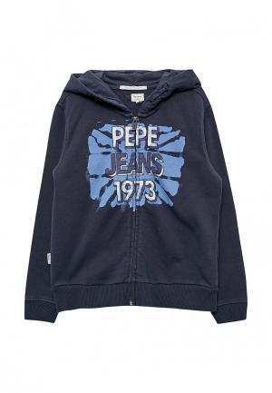 Толстовка Pepe Jeans. Цвет: синий