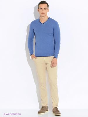 Пуловер Oodji. Цвет: голубой, синий