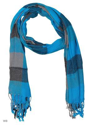 Палантин Vita pelle. Цвет: голубой, коричневый