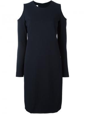 Платье с открытыми плечами Akris Punto. Цвет: синий
