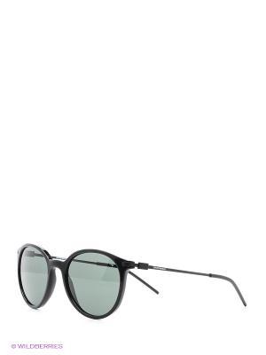 Очки солнцезащитные Emporio Armani. Цвет: черный, голубой