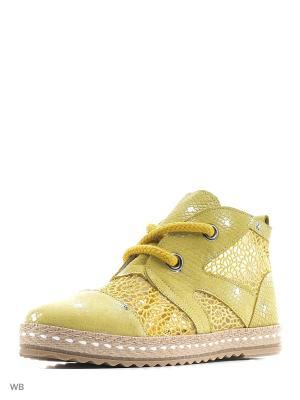 Ботинки Donna Ricco. Цвет: желтый