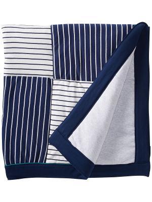 Одеяло Преппи Little Me. Цвет: синий, белый