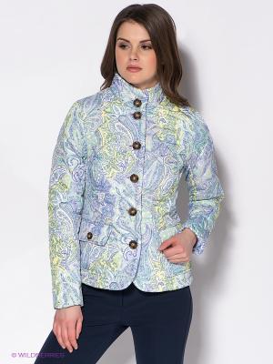 Куртка Baon. Цвет: сиреневый, желтый, светло-зеленый