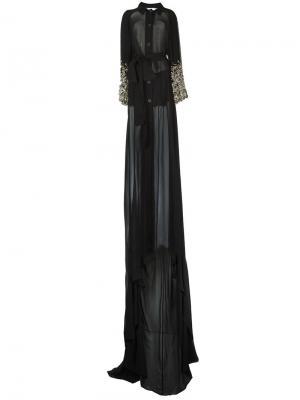 Полупрозрачное свободное пальто Antonio Berardi. Цвет: чёрный