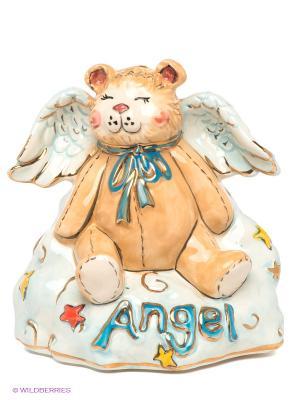Ночник Медвежонок-ангел Blue Sky. Цвет: светло-голубой, бежевый