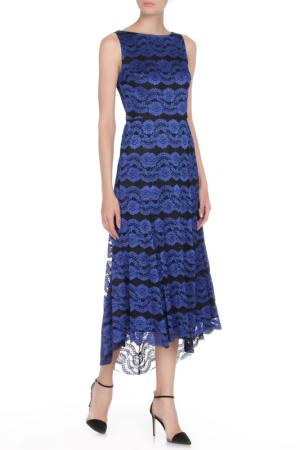 Платье Vera Wang. Цвет: blk royal blue