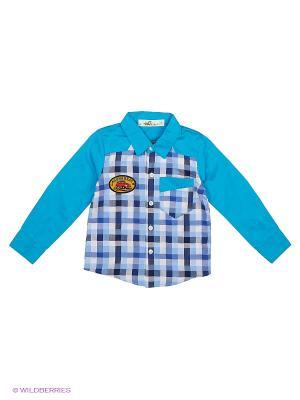 Рубашка Sago Kids i Ant Domain. Цвет: голубой, белый, синий