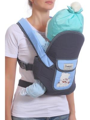 Слинг-рюкзак M-BABY. Цвет: серый, голубой