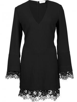Платье с кружевным подолом A.L.C.. Цвет: чёрный