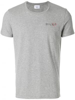 Базовая футболка Dondup. Цвет: серый