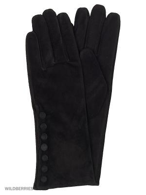Перчатки женские Marco Bonne`. Цвет: черный