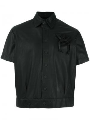 Укороченная куртка с карманом на завязках KTZ. Цвет: чёрный