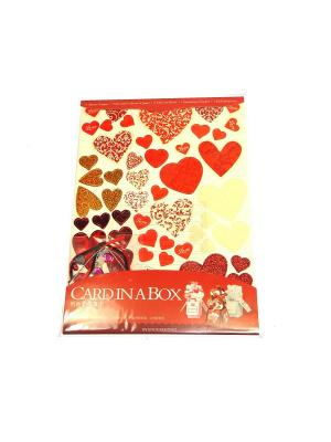 Набор Сделай открытку в коробочке 3Д Азбука Тойс. Цвет: красный