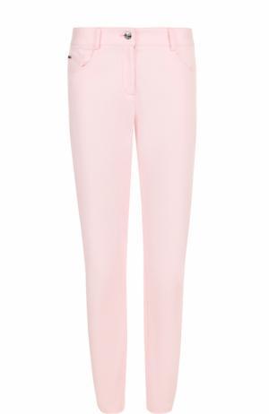 Однотонные джинсы прямого кроя St. John. Цвет: светло-розовый