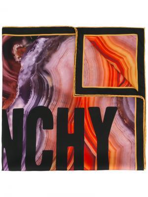 Платок с принтом логотипа Givenchy. Цвет: многоцветный