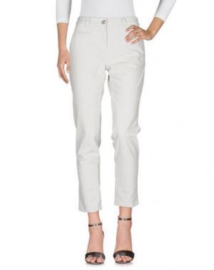 Джинсовые брюки 0039 ITALY. Цвет: светло-серый