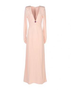 Длинное платье ALESSANDRA RICH. Цвет: розовый