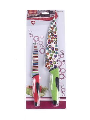 Набор ножей 2 предмета PATRICIA. Цвет: зеленый, красный