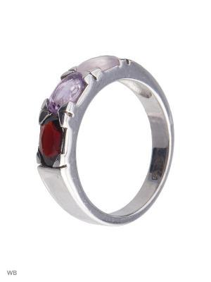 Кольцо Митра Ювелир. Цвет: розовый, бордовый, фиолетовый
