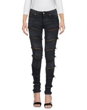 Джинсовые брюки PLEASE. Цвет: черный