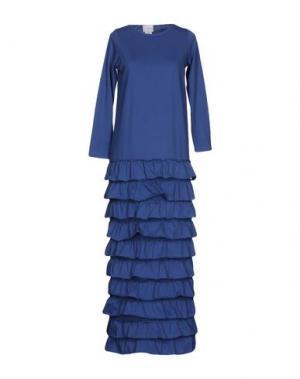 Длинное платье PINK BOW. Цвет: синий