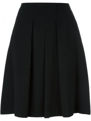 Классическая плиссированная юбка Steffen Schraut. Цвет: чёрный