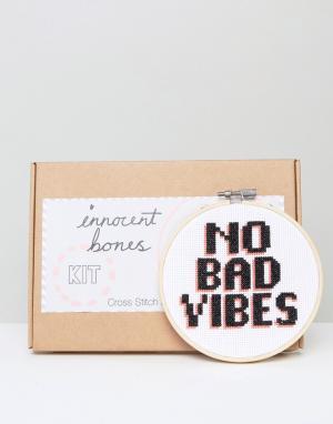 Innocent Bones Набор для вышивания крестиком No Bad Vibes. Цвет: мульти
