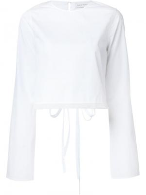 Блузка Clara Misha Nonoo. Цвет: белый
