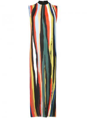 Платье в полоску Solace London. Цвет: многоцветный