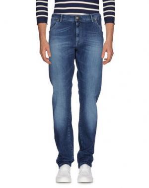 Джинсовые брюки ALV ANDARE LONTANO VIAGGIANDO. Цвет: синий