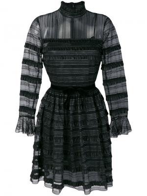Кружевное платье с высоким воротом Philosophy Di Lorenzo Serafini. Цвет: чёрный