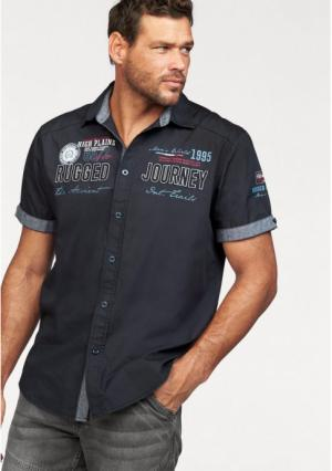 Рубашка с короткими рукавами MANS WORLD MAN'S. Цвет: темно-синий