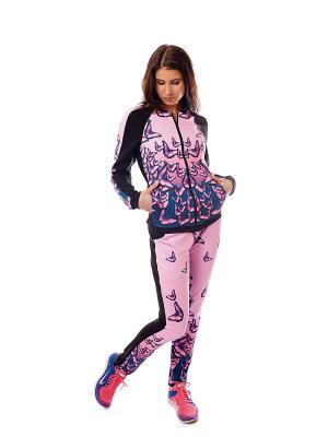 Куртка EMDI. Цвет: розовый, черный, серый